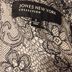 Jones New York Tops - JNY Beaded Pleat Neck Blouse Size 4